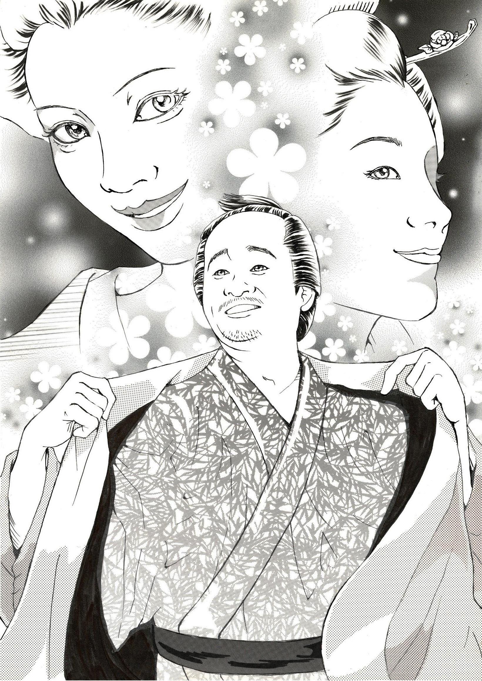 北日本新聞様発行【まんまる】映画イラスト(幕末太陽傳ほか)を描きました!